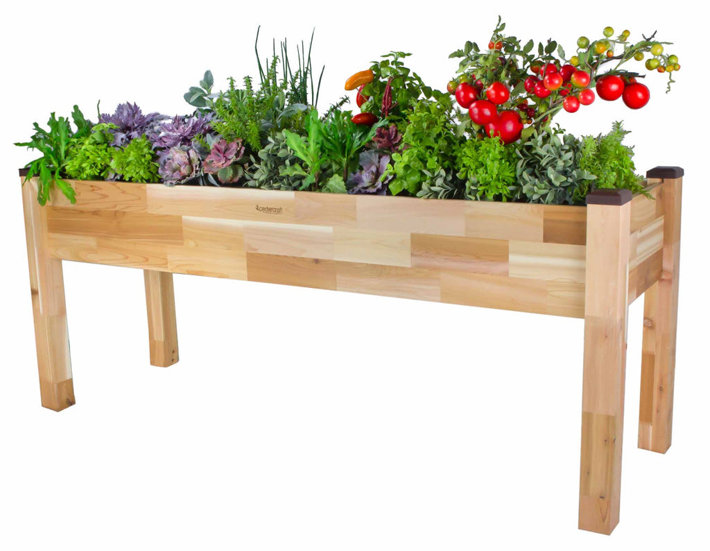 "Elevated Cedar Planter (23"" x 72"" x 30""H)"