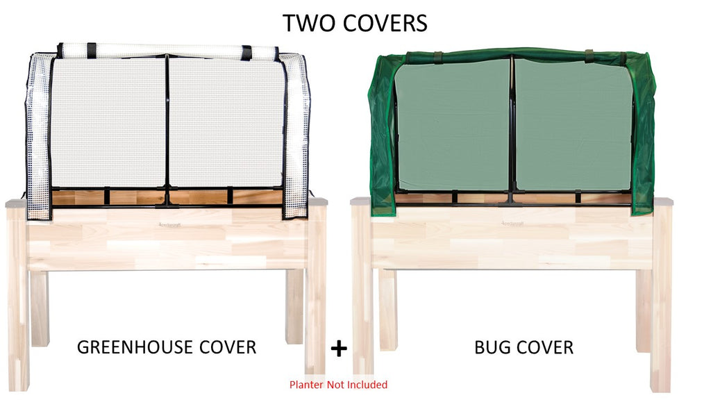 "Greenhouse & Bug Cover Combo for 34"" x 49"" Planter"