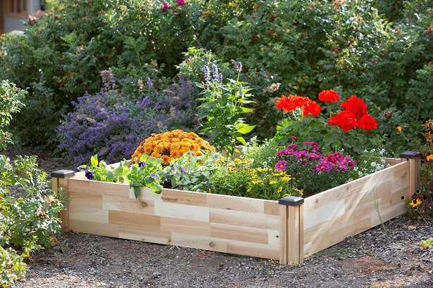 "Raised Cedar Garden Bed (49"" x 49"" x 10""H)"