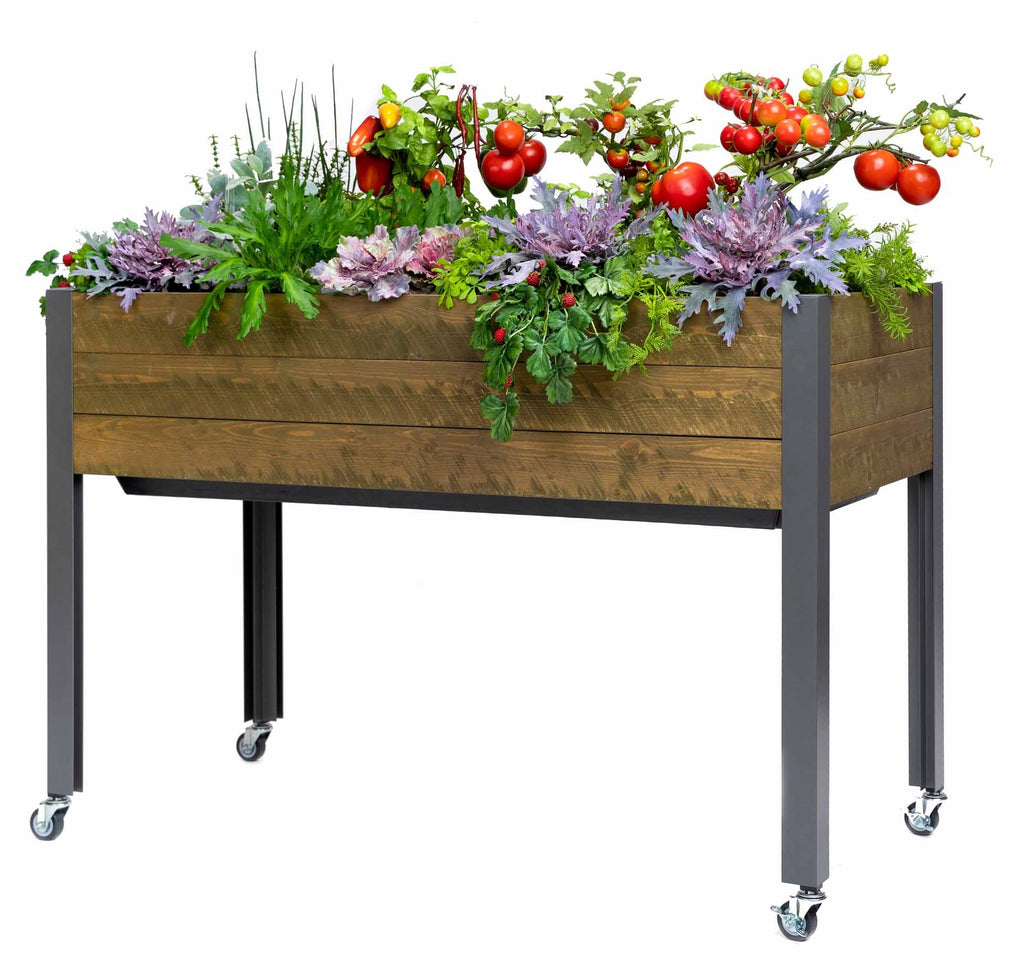 "Self-Watering Spruce Planter (21"" x 47"" x 32""H)"