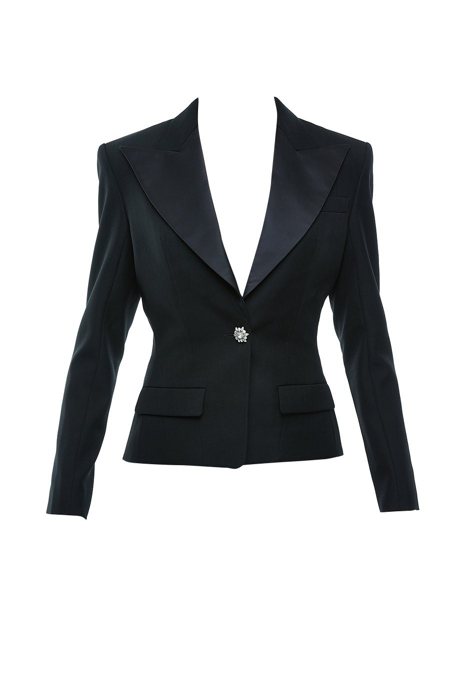 ONE BUTTON SATIN BLAZER
