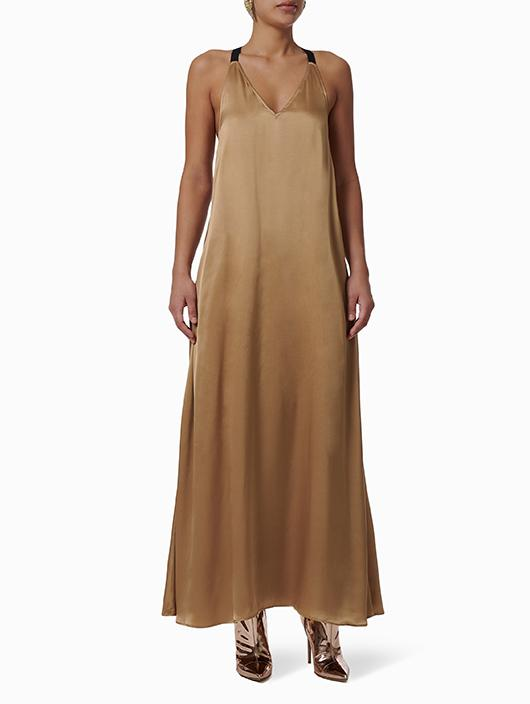 GOLD SAKURA MAXI DRESS