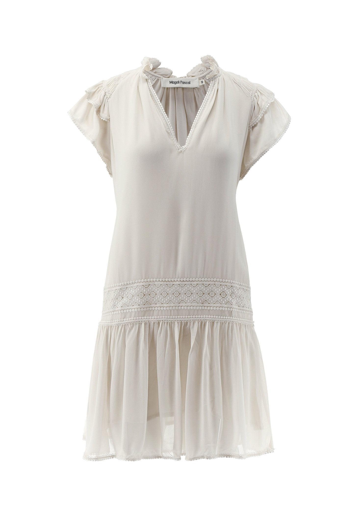 WHITE BOVARY DRESS