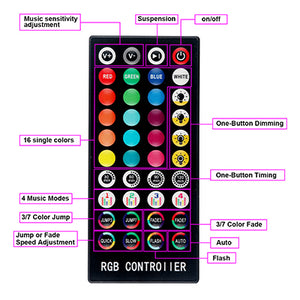led strip lights RGB colorful strip lights(Remote Control Included)