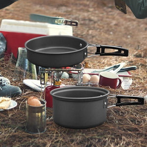 Outdoor Camping Cookware Set Portable Tableware