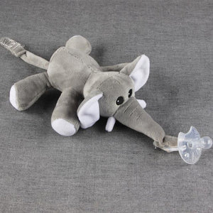 Plush Animal Soother Toy Clip For Pacifiers