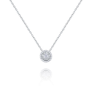 GOLD AND DIAMOND SOLITAIRE NECKLACE