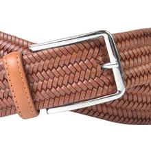 Load image into Gallery viewer, LEXINGTON BRAIDED ITALIAN SADDLE LEATHER STRETCH BELT