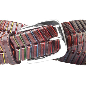 LIVINGSTON HAND LACED SADDLE LEATHER BELT