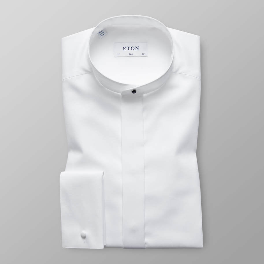 EVENING SHIRT WITH BANDED COLLAR
