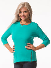 Load image into Gallery viewer, Side Zipper Cotton Top in 5 Colors - Mary Ann's Shoppe