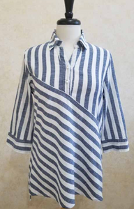 19S51 Blue Stripe Tunic - Mary Ann's Shoppe