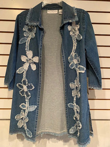 S1828 Designer Denim Jacket by Bleu Bayou - Mary Ann's Shoppe