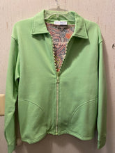 Load image into Gallery viewer, 1601 Crystal Zipper Cardigan by Bleu Bayou S-M - Mary Ann's Shoppe