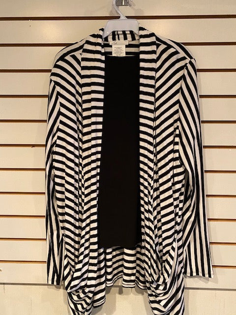 5M-1030 Black and White Jacket by Zoe - Mary Ann's Shoppe