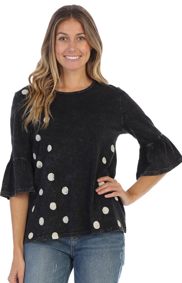 M47-1322 BLK Coco Dots Tunic - Mary Ann's Shoppe