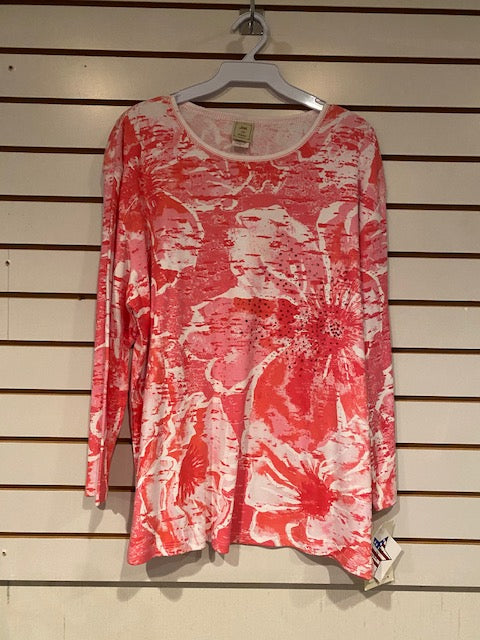 14-758X Coral Flowers by Jess and Jane - Mary Ann's Shoppe
