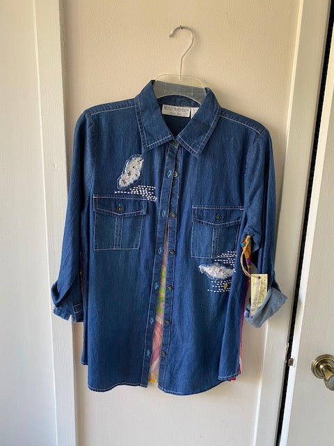 17s26 Denim Jacket by Bleu Bayou - Mary Ann's Shoppe