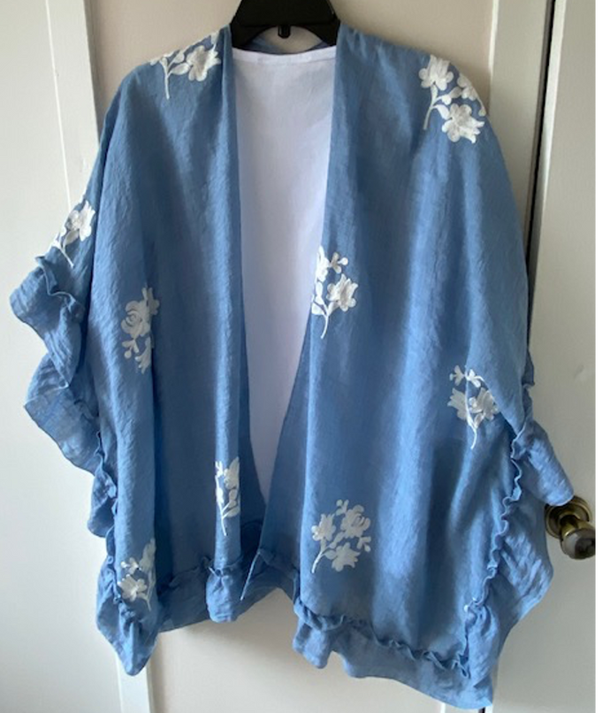 Cape-Style Poncho by Mademoiselle with Tank Top - Mary Ann's Shoppe