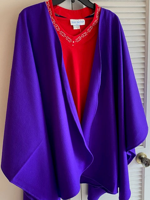 Purple Cape by Mademoiselle - Mary Ann's Shoppe