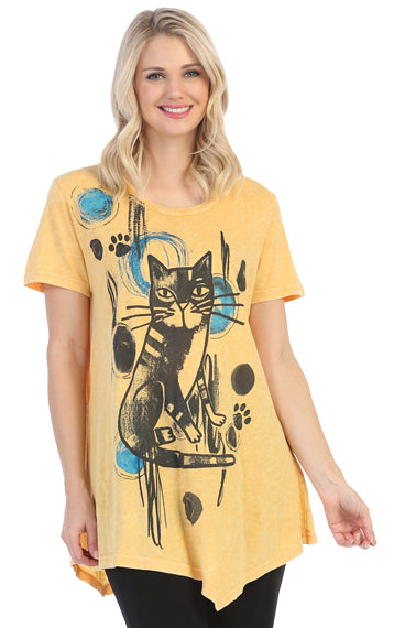 M4-1445 WHEAT Rain Cat - Mary Ann's Shoppe