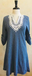 S2008 Lace Trim Tunic / Dress - Mary Ann's Shoppe
