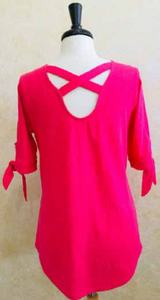 S2038 Blouse in Raspberry - Mary Ann's Shoppe