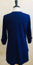 Load image into Gallery viewer, S2039 Blouse in Navy - Mary Ann's Shoppe