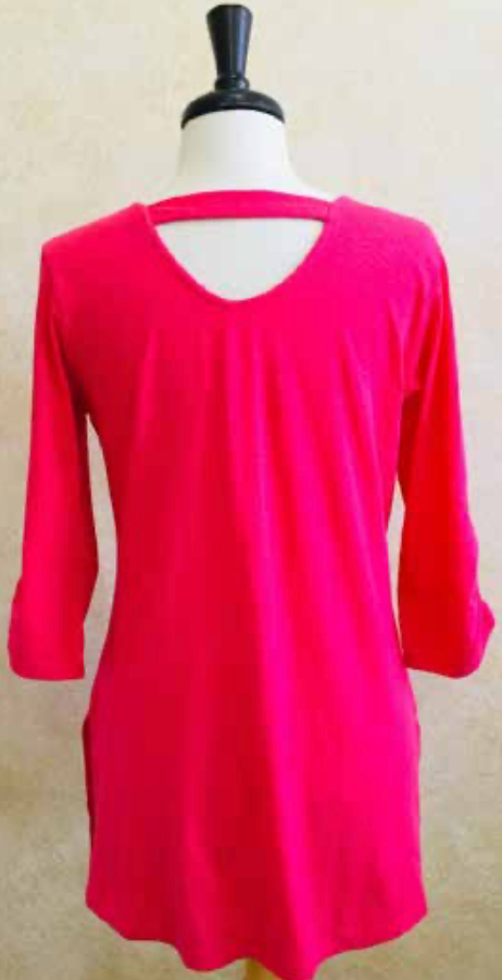 S2040 Blouse in Raspberry - Mary Ann's Shoppe
