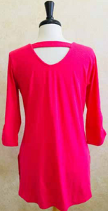 S2040 Blouse in Coral - Mary Ann's Shoppe