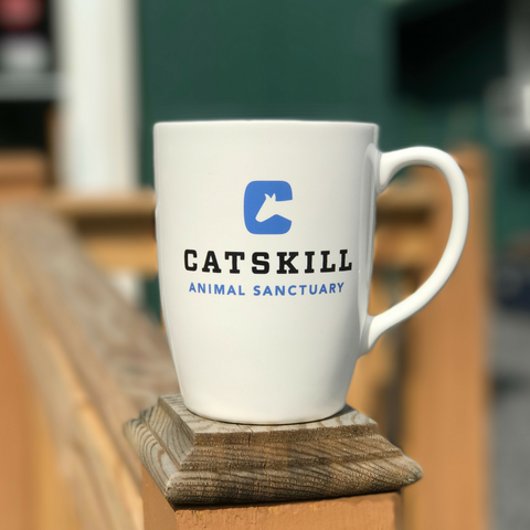 Mug - Catskill Animal Sanctuary logo and tagline, Love Spoken Here