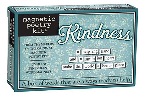 Kindness Magnetic Poetry Kit - Words for Refrigerator - Write Poems and Letters on the Fridge - Made in the USA
