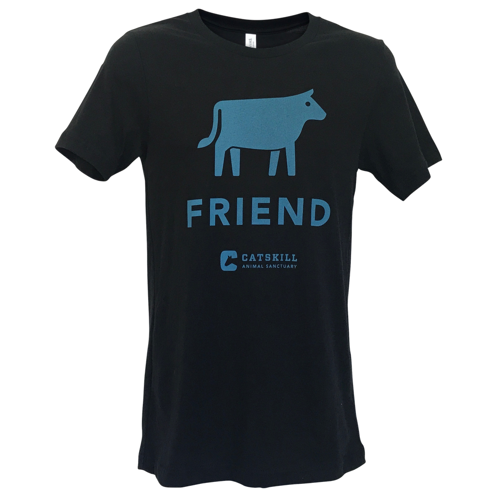 Cow Friend Unisex Logo Blue T-Shirt