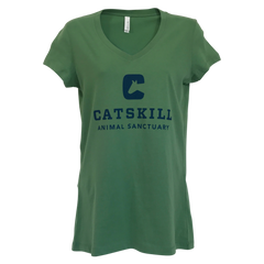 Green Catskill Womens Logo Blue T-Shirt-Front