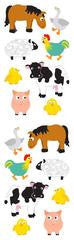 single sheet of assorted cartoon animals