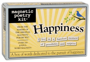 Happiness Magnetic Poetry Kit - Words for Refrigerator - Write Poems and Letters on the Fridge - Made in the USA