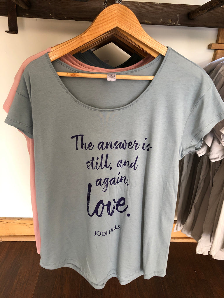 T-shirt: Love is the Answer Ladies Tee