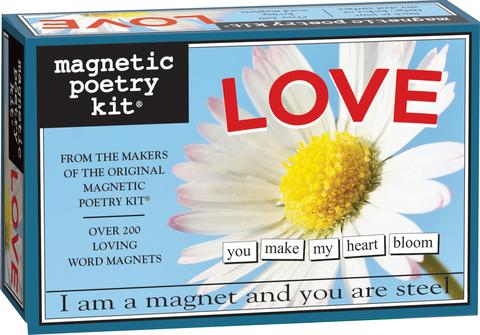 Love Magnetic Poetry Kit - Words for Refrigerator - Write Poems and Letters on the Fridge - Made in the USA