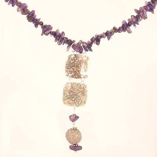 Amethyst - Castle in the Sky - Pure Silver Necklace - Keja Designs Jewelry