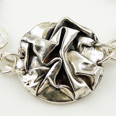 Folded Pure Silver Bracelet - Keja Designs Jewelry