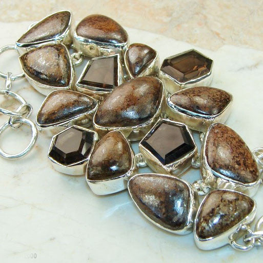 Pietersite  Smoky Topaz Chocolate Bracelet - Keja Designs Jewelry