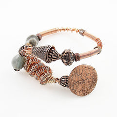 Copper Potpourri Gemstone Bracelet - Keja Designs Jewelry