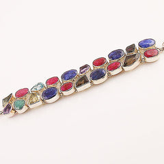 Multi-Gemstone Sterling Silver Bracelet - Keja Designs Jewelry