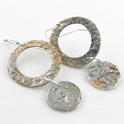 Textured Circle Earrings - Keja Designs Jewelry