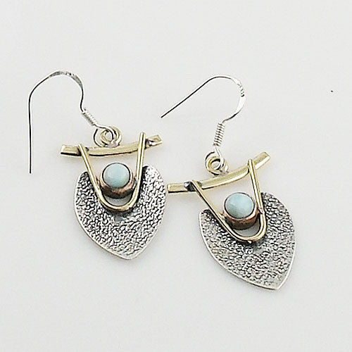 Larmiar Sterling Silver Three Tone Earrings - Keja Designs Jewelry