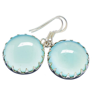 Chalcedony Cabochon Sterling Silver Earrings - Keja Designs Jewelry