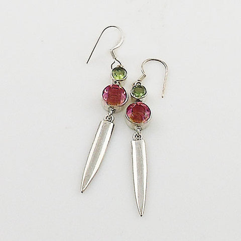 Alexandrite & Peridot Sterling Silver Earrings - Keja Designs Jewelry