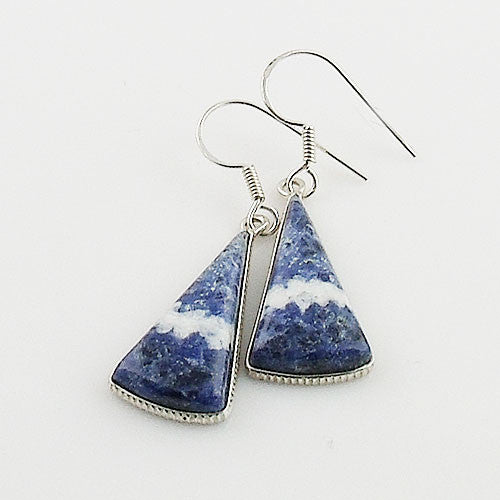 Sodalite Sterling Silver Earrings - Keja Designs Jewelry