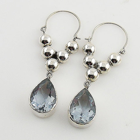 Alexandrite Sterling Silver Bold Earrings