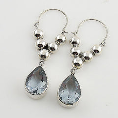 Alexandrite Sterling Silver Bold Earrings - Keja Designs Jewelry